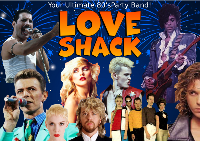 love shack covers band hire